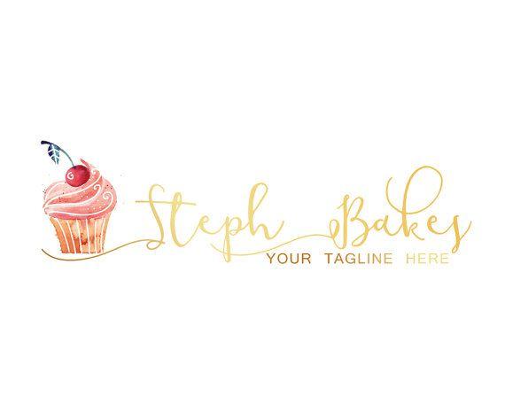 Cake Branding Kit Gold Custom Logo Design Logo by LoveArtsStudio