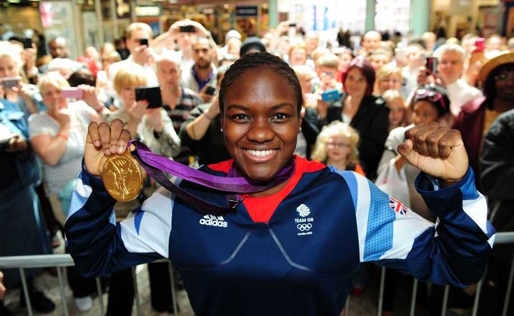 British boxer and the first woman to win an Olympic boxing title - Nicola Adams -
