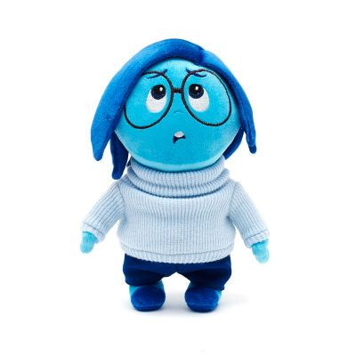 If they're feeling blue, a cuddle from our Sadness soft toy is sure to cheer your little one up! The Inside Out emotion has sparkly plush hair and wears her trademark knitted jumper.