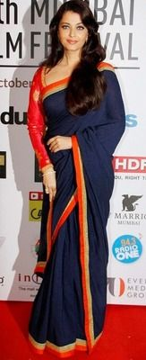 Ved Deal's Bollywood Replica Aishwarya Rai Heavy Blue Designer Saree Bollywood Sarees Online on Shimply.com