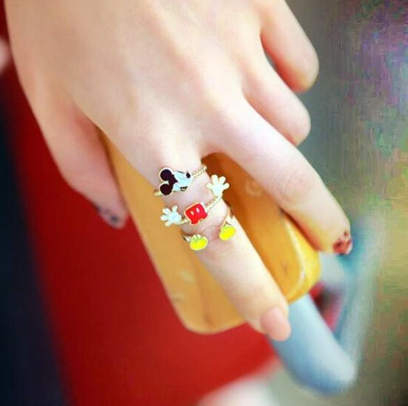 cute mickey rings - mickey jewelry disney rings-f20447.png (585×582)