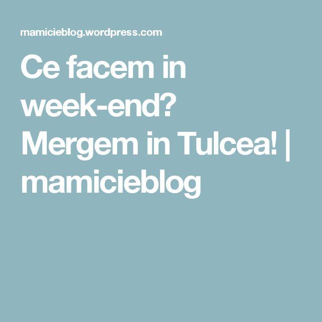 Ce facem in week-end? Mergem in Tulcea! | mamicieblog