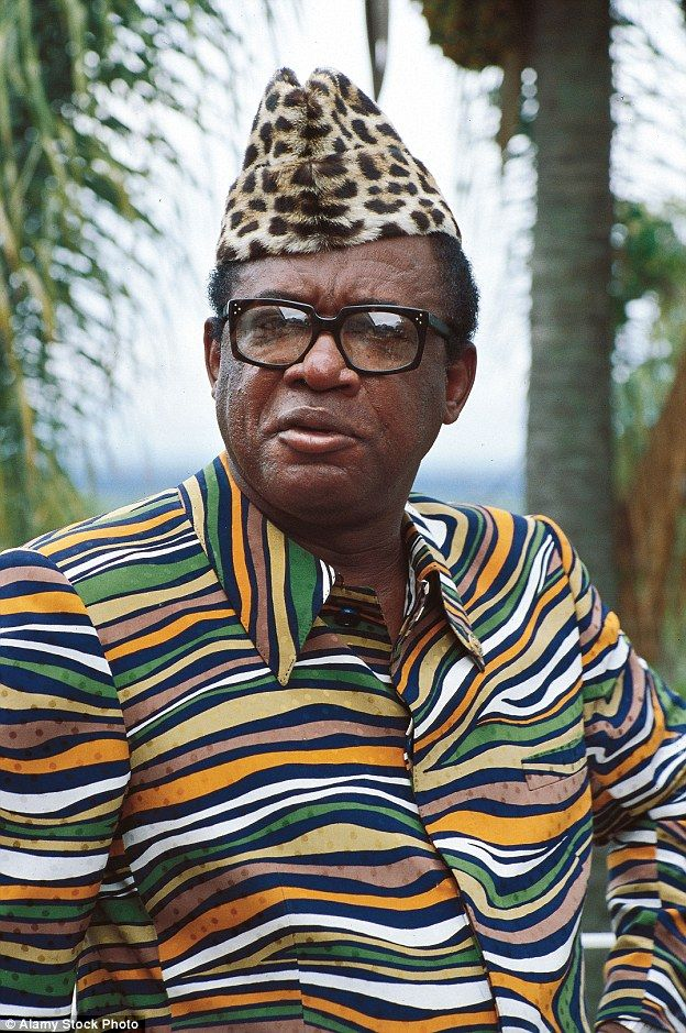 Colourful: Belgian Congo ruler Mobutu Sese Seko had 17 children by two wives and several mistresses. He changed the name of his country to Zaire, murdered at will and drank human blood to fortify himself