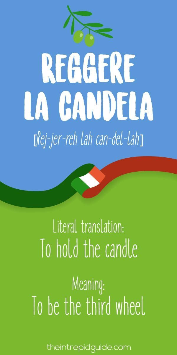 Italian Expressions Reggere la candela