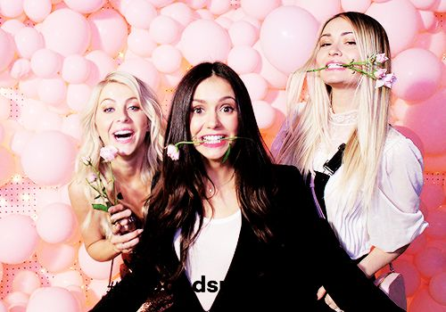 Nina Dobrev, Julianne Hough and Lauren Paul photobooths at the Launch Party of Pop & Suki in Los Angeles, California | November 2, 2016