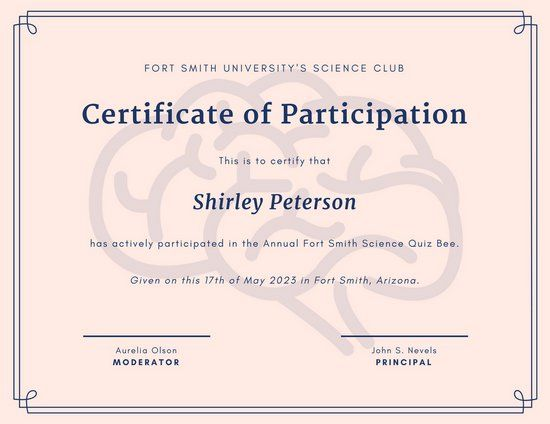 25+ ide terbaik Certificate of participation template di Pinterest - printable certificate of participation