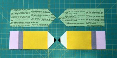 Materiais: restos de tecido creme, preto, amarelo, cinza e rosa tecido de revestimento zipper 9 cm fio lápis de marcação de tecido solúvel em água cortador rotativo ou tesoura pé de zíper Pas…