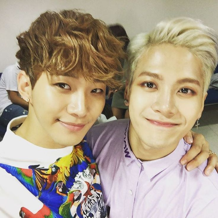 Jackson's IG with Junho: today with my JYP family...
