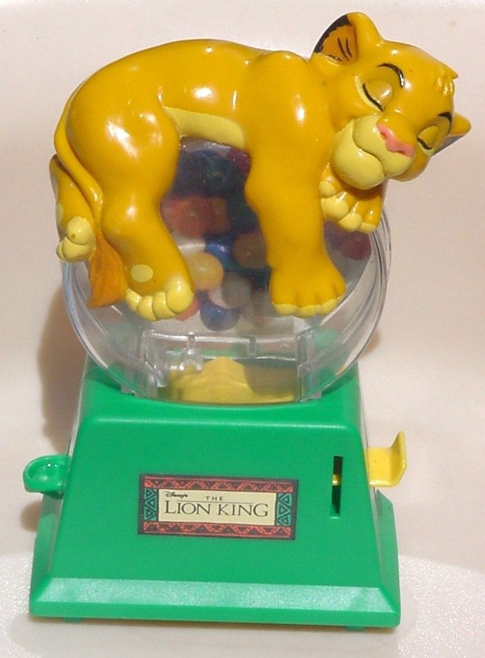 VTG The Lion King Sleeping Simba Gumball Machine / Money Coin Bank #Disney