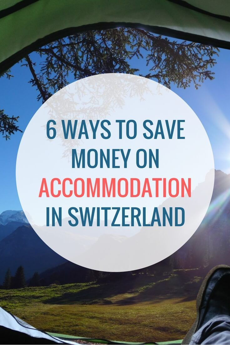 Hotels in Switzerland aren't known to be cheap. In this post, you'll find 6 budget alternatives to staying in an expensive hotel.