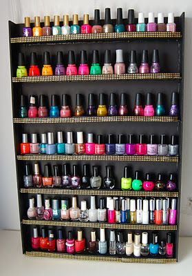 SellzCuteThings: Super Easy DIY Nail Polish Wall Rack