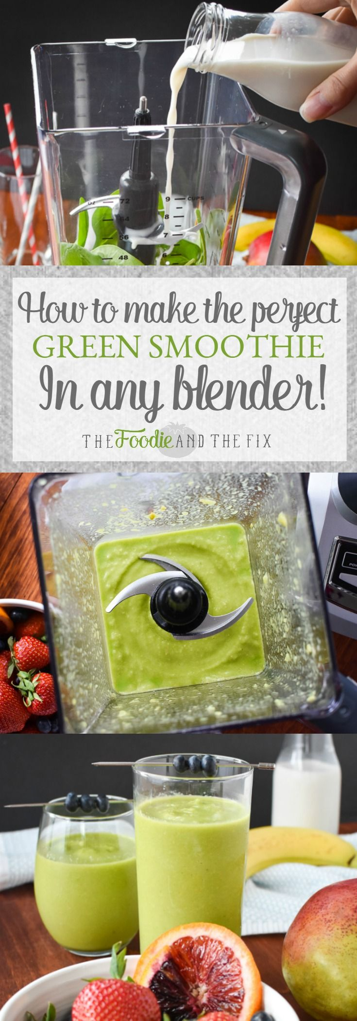 Make a super smooth, healthy and delicious smoothie every single time with this simple trick and the perfect ingredient ratios!