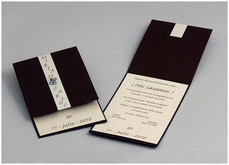 Lindas sencillas y elegantes invitaciones pinterest - Bodas sencillas ...