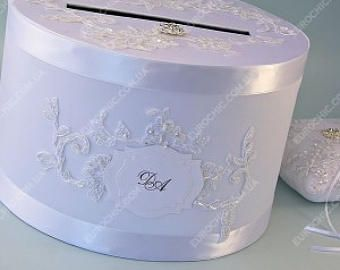 Personalized card box Lace wedding gift card box Wedding money box White lace wedding card holder wedding gift card box Initials wedding box