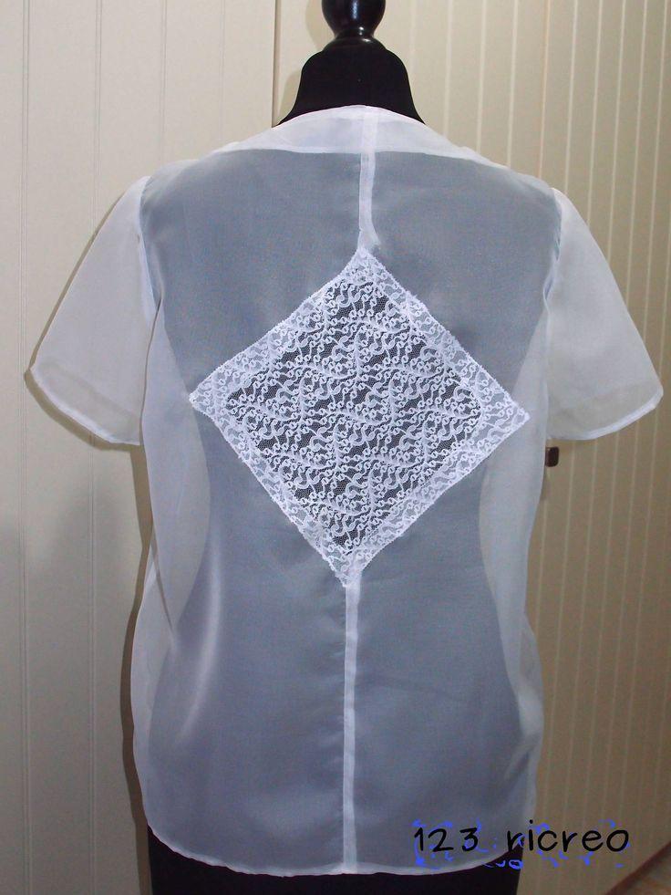 Blusa #chiffon dietro con inserto in #pizzo fai da te - Come si fa l'orlo a tessuti trasparenti - 123ricreo
