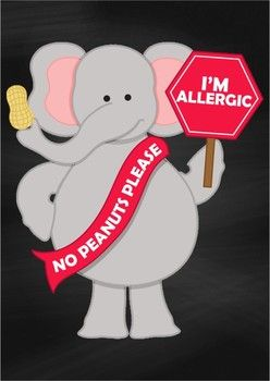 Chalk Poster - Peanut Allergy {FREE}