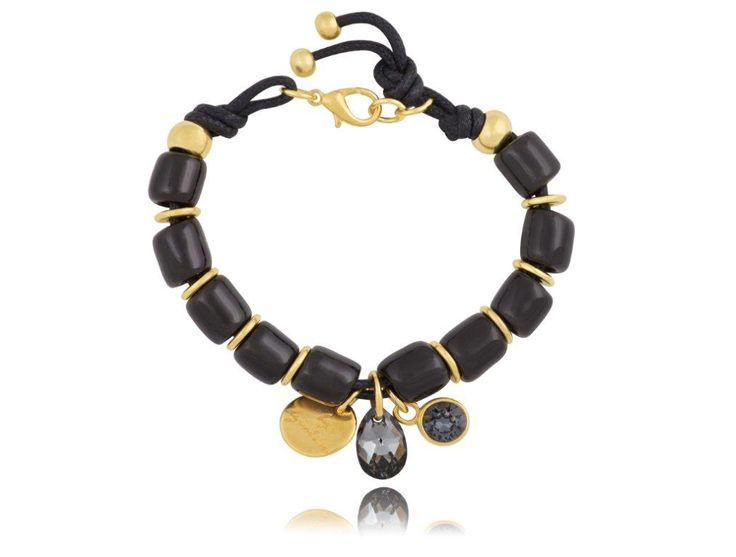 Bransoletka By Dziubeka. Twój styl - total black. #Bydziubeka #bizuteria #black #jewerlly