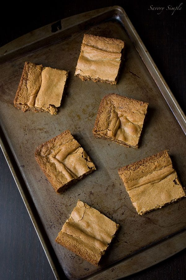 Brown Butter Vanilla Bean Blondies - Savory Simple