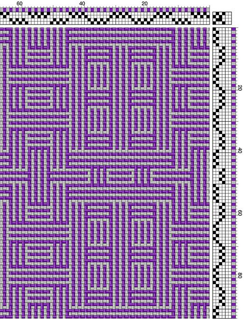 Ravelry: RobStrauss' Shadow Weave Scarf in Eggplant ...