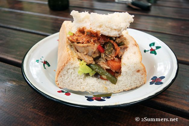 The most delicious bunny chow Heather (our Gauteng ambassador) has ever tasted, courtesy of Lebo's backpackers in Soweto