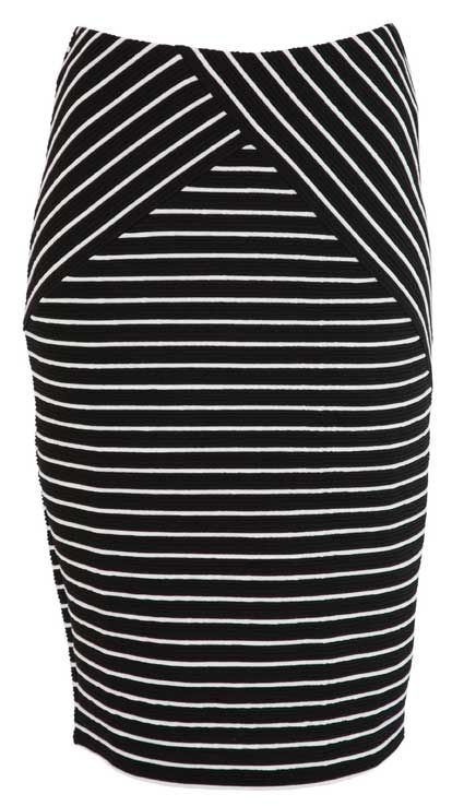 Farmers   Whistle Stripe Pencil Skirt   $49.99