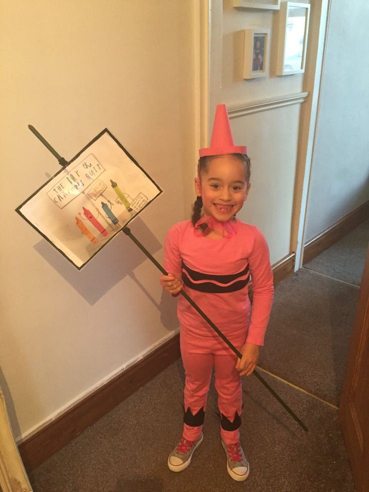 The day the crayons quit, world book day costume. Idea from the house that lard built