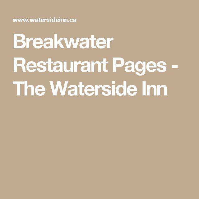 Breakwater Restaurant Pages - The Waterside Inn