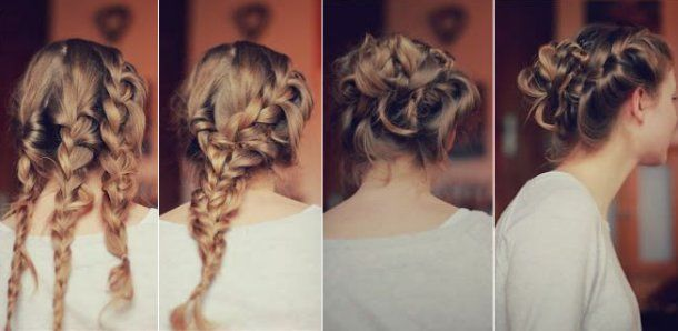 Updo Hair Styles For Prom: Quick And Amazing Triple Braided Prom Updo Hairstyle