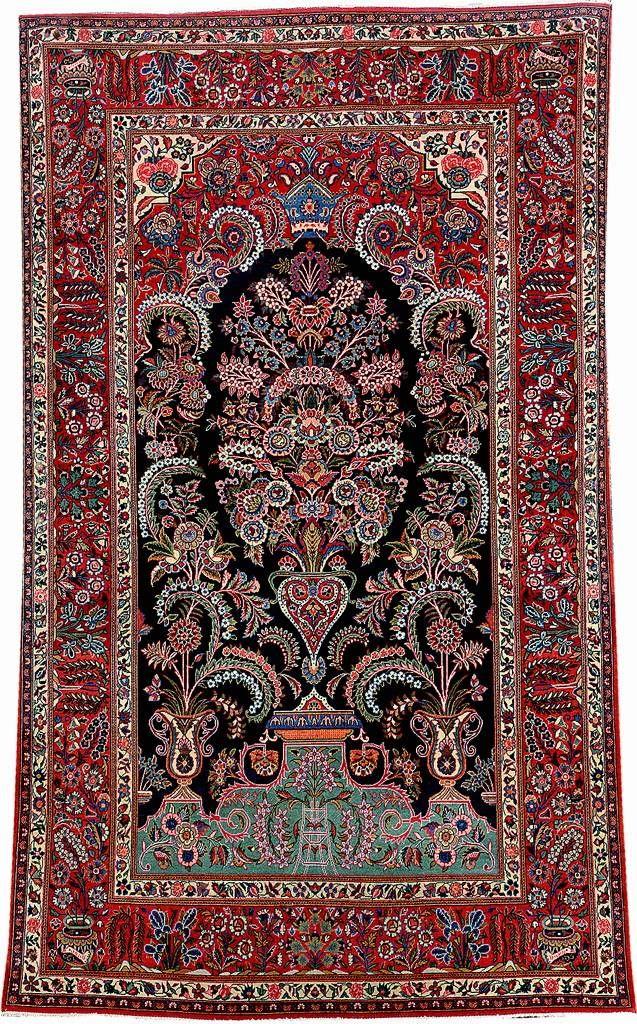 Kurk King Crown Kashan Central Persia Circa 1920 Wool Cotton Approx 220 X 133 Cm Henrys Auktionshau Stair Runner Carpet Rugs On Carpet Persian Carpet