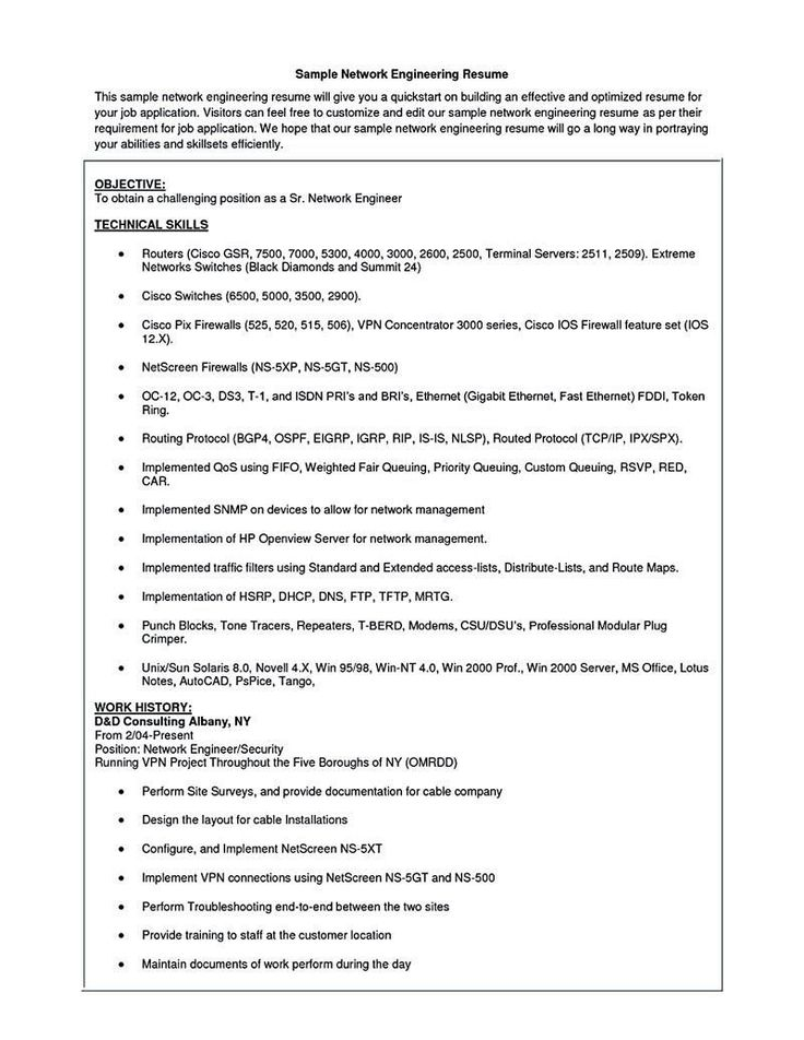 Entry level cyber security resume network security