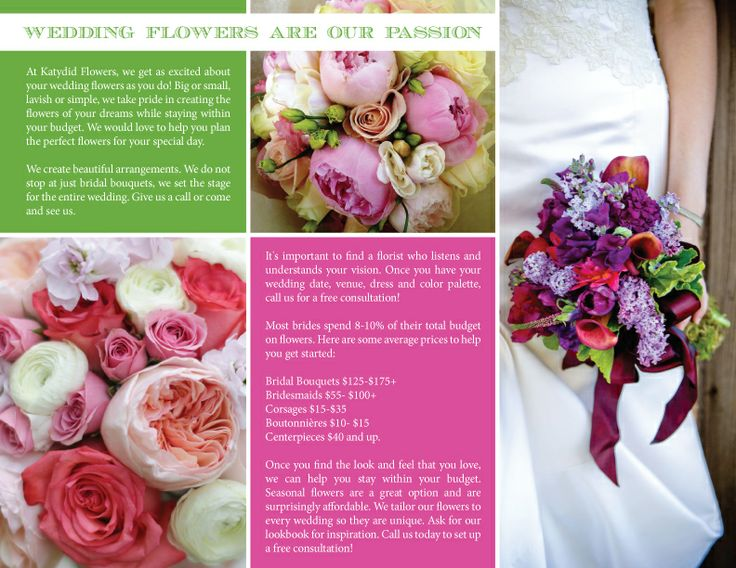 Best Florist Brochure Images On   Florists Brochures