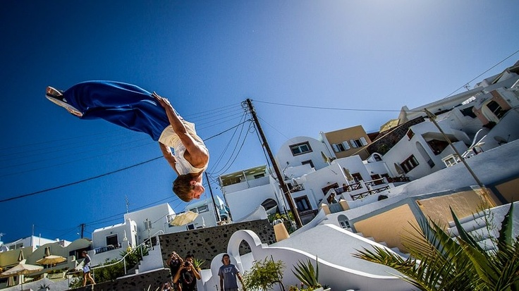 Dana villas - Red Bull art of motion event in Santorini 2012
