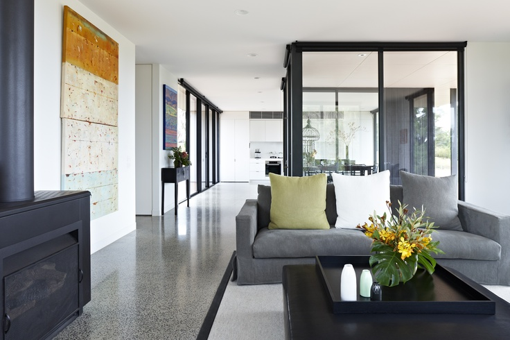 The Kyneton Flat Pack Home in Victoria's Macedon Ranges. This cutting edge  house on a rugged escarpment featured in Episode 4 of Grand Designs Australia Series 2.