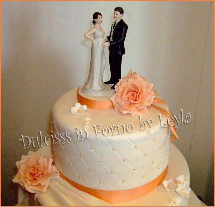 Wedding Cake Rose e Drappeggi, la torta di matrimonio di Paola e Marco