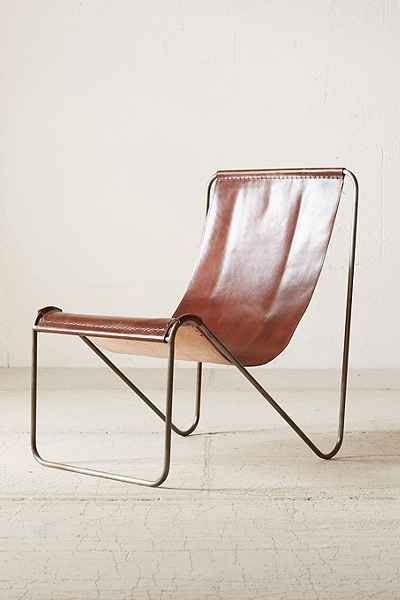 Good Maddox Leather Sling Chair