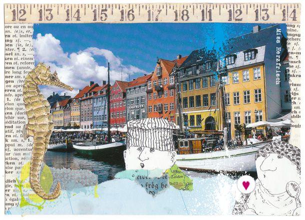 Travelcollages: To The, Gedanken Um, Herzfrisch Reisecollagen, Herzfrisch Reist, The World, Artrag Travel