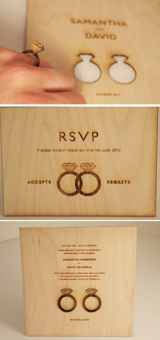Put a Ring on it   DIY Winter Wedding Invitations on a Budget