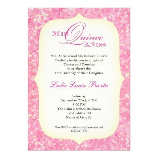 Quinceanera Invitation Wording Spanish Invitation