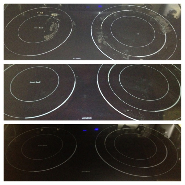 Lovely Cleaning Your Ceramic Cook Top Stove. Natural Cleaning With Baking Soda And  Hot Soapy Towel