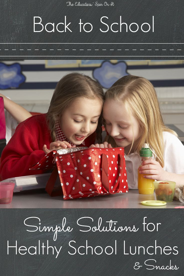 Simple Solutions for Healthy School Lunches and After School Snacks