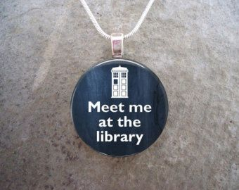 Doctor Who Jewelry Glass Pendant Necklace David by SolasJewelry