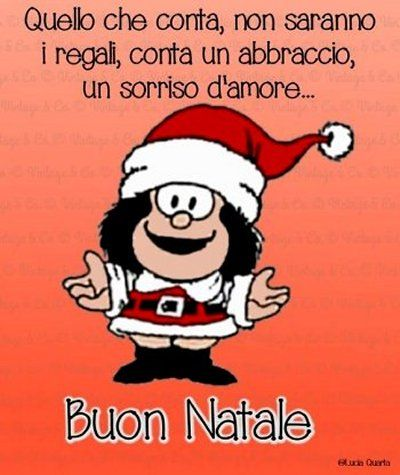 Messaggio Di Buon Natale Simpatico.Buon Natale Da Mafalda Frasi Christmas Fun Christmas Wishes E Xmas