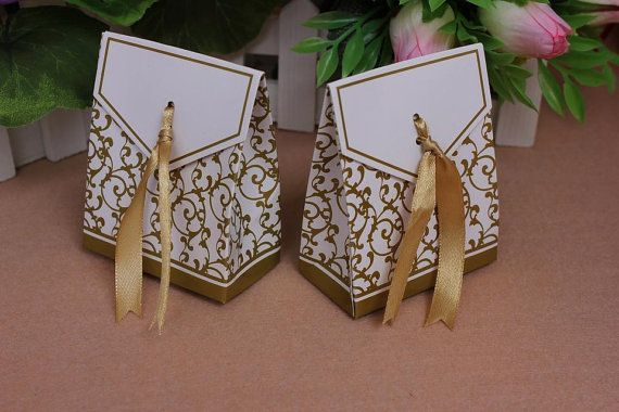 100 pcs Wedding Candy Boxes Birthday Party Paper by longcraft2014