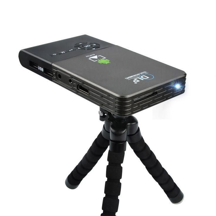 כיס מיני מקרן נייד DLP מקרן DLNA Wifi Bluetooth אנדרואיד OS 1 גרם + 8 גרם/16 גרם ROM מובנה 5000 mAh סוללה בית קולנוע
