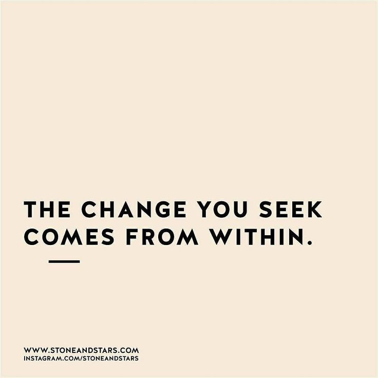 Note to self....re read this daily and work on the change