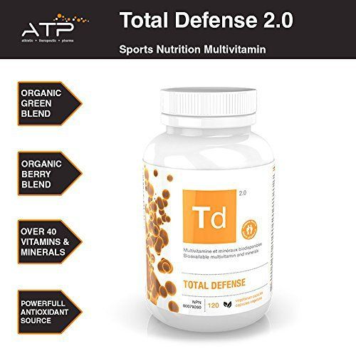 MULTIVITAMIN SUPPLEMENT & MORE: Contains multivitamins, Amino Acids, Antioxidants, Digestive enzymes, and a performance complex with Carnitine, and many more ingredients that covers handfuls of supplements in a single ATP-Lab Total defence 2.0 serving. ZMA: A potent combination of zinc, magnesium and vitamin B6 that has been shown to increase muscle strength and recovery when used in conjunction with intense training. ANTIOXIDANTS: Packed with antioxidants to help fight free radicals. Con...