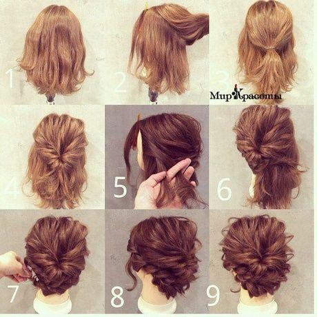 Updos cheveux mi-longs facile
