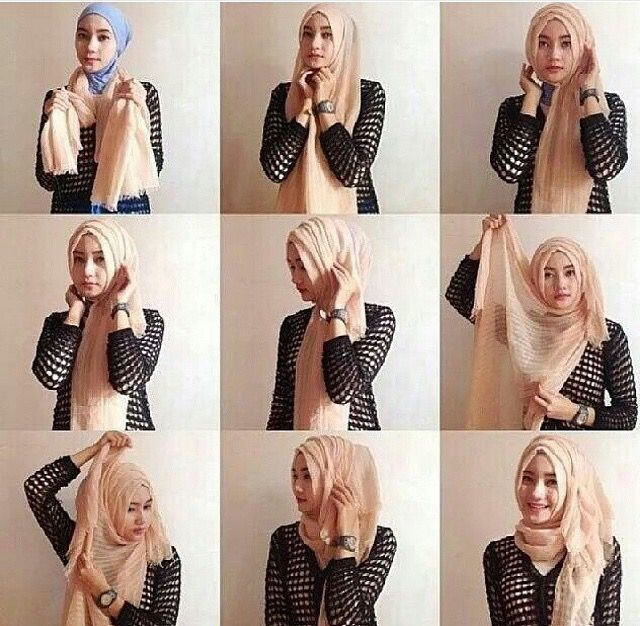 17 Best Images About Sisters Hijabista On Pinterest Winter Fashion Simple Hijab Tutorial And