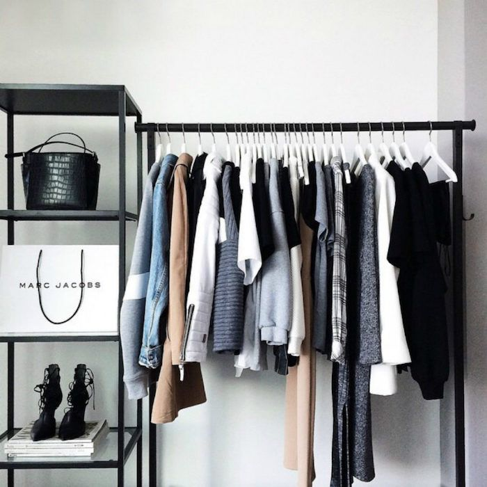 1001 Idees De Dressing Ouvert Pour S Inspirer A Realiser Son Projet Meuble Rangement Chambre Deco Dressing Portant Vetement