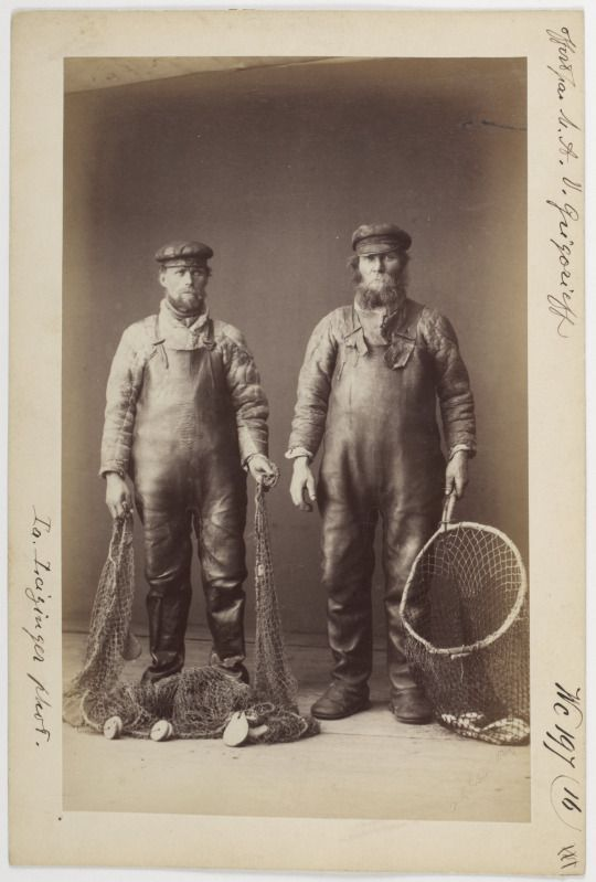 Fishermen in the costumes of seal skin.  Ya. Leytsinger, Arkhangelsk Province, Russia, 1887 via sudiloski